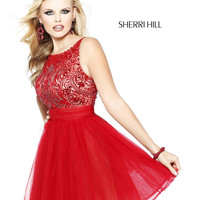Sherri Hill 11032 Short Beaded Homecoming Dress