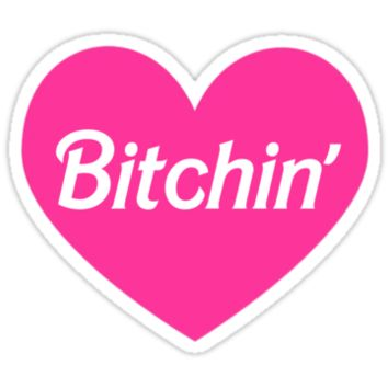 Bitchin' Barbie Pink Heart Design by hellosailortees