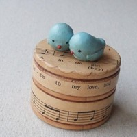 Wee Birds On A Trinket Box by humblebea on Etsy