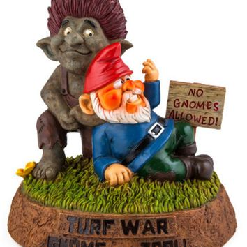 The Troll vs Gnome Garden Gnome
