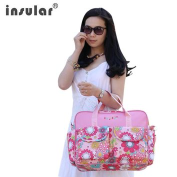 Brand waterproof designer baby ravel mama mummy mother stroller diaper bag set tote nappy bags backpack organizer for mom
