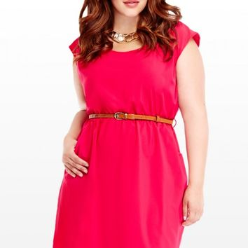 Plus Size Rose Belted Dress   Fashion To Figure