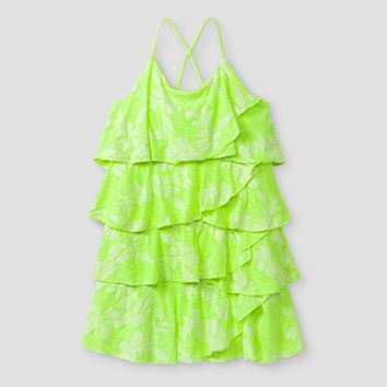 Toddler Girls' Tiered A Line Dress Cat & Jack™ - Bright Green