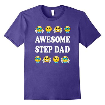 Step dad fathers day gift from daughter son wife t shirt