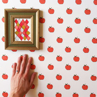 Removable Wallpaper // Apples to Apples // Perfect for renters // Fully Removable