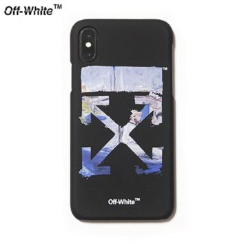 Off White New fashion letter cross arrow print couple protective cover phone case