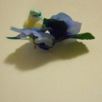 Petunia and Bird Brooch