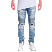 Embellish NYC Maverick Splatter Biker Denim Jeans