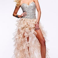 Prom Dresses, Celebrity Dresses, Sexy Evening Gowns at PromGirl: Strapless Sweetheart High Low Dress