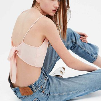 Pins & Needles Tie-Back Cami in Pink - Urban Outfitters
