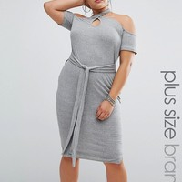 One One Three Halter Bodycon Dress With Tie Detail at asos.com