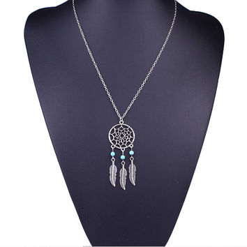 Women Girl Necklaces Pendants Made With Dream Catcher Pattern Crystals Gifts For Valentine's Day CF