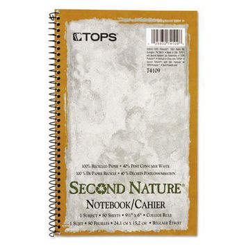 TOPS™ Second Nature® Single Subject Wirebound Notebooks