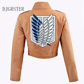 Cool Attack on Titan DJGRSTER  Jacket no  Legion Coat Cosplay Eren Levi Jacket Plus Size Halloween Costume S-XXL AT_90_11