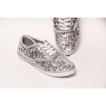 Sterling Silver Starlight Sequin Sneakers