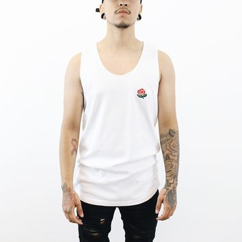 Rose Tank Top (White)