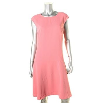 Lauren Ralph Lauren Womens Drop-Waist Cap Sleeves Casual Dress
