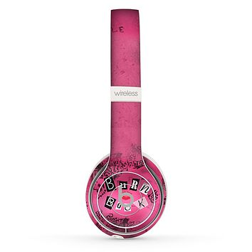 The Burn Book Pink Skin Set for the Beats by Dre Solo 2 Wireless Headphones