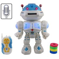 Annie The Interactive Voice Command Talking Space Robot - Remote Control RC Dancing Robot Toy for Kids with Missile Launcher (color may vary)