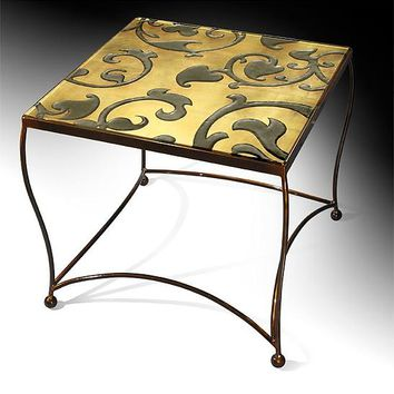 Tuscan Vine Side Table by Cheryl McNeill (Art Glass Side Table) | Artful Home