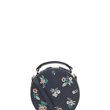 Accessorize | Hepburn Embroidered Cross Body Bag | Navy | One Size | 3894994100