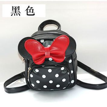 Toddler Backpack class 2018 New Kids Bow Dot Pattern Backpack Children School Bag Girls Student Schoolbag Baby Cute Cartoon Bags s AT_50_3