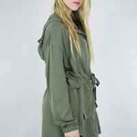 Lightweight Hooded Utility Jacket
