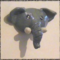 Cute Elephant Head Polymer Magnet