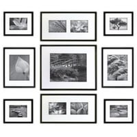 Gallery Perfect 9-Piece Matted Wall Frame Kit