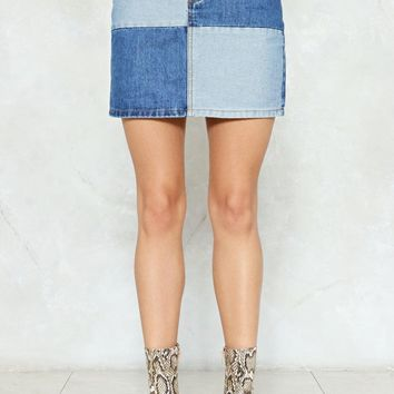Not Got a Patch on You Denim Mini Skirt