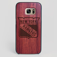 New York Rangers Galaxy S7 Edge Case - All Wood Everything