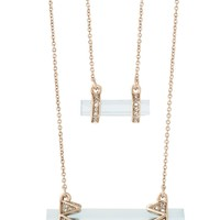 House of Harlow 1960 Jewelry Chrysalis Double Drop Necklace