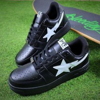 PEAPNW6 Bape Sta Sneakers Black White Shoes