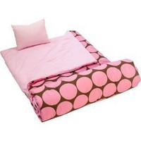 "Wildkin Big Dots - Pink Sleeping Bag (66 X 30"")"
