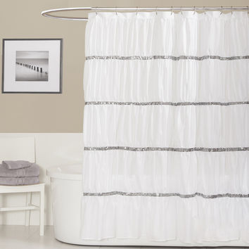 Lush Decor Twinkle White Shower Curtain | Overstock.com Shopping - The Best Deals on Shower Curtains