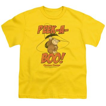 Curious George - Peek A Boo Short Sleeve Youth 18/1