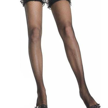 Sexy Lace Fishnet Stockings Women Mesh Tied Thigh High Hosiery