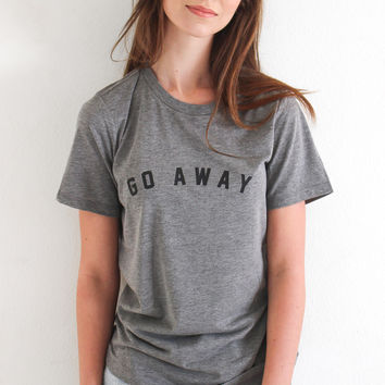 Go Away Relaxed Tee - Grey