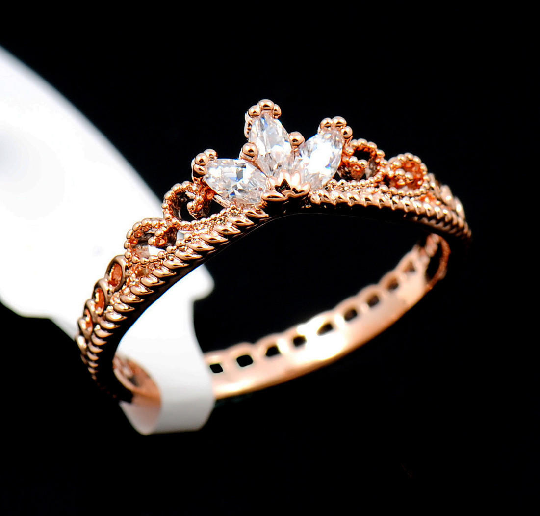 Dainty Rose Gold Princess Ring