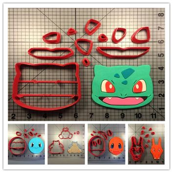 Game  Character Cookie Cutter Set Squirtle Bulbasaur Charizard Charmander Snorlax Fondant Cupcake Cutter Cake DecoratingKawaii Pokemon go  AT_89_9