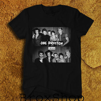 One Direction Shirt 1D Four Logo T-Shirt Printed Shirt Geek Hipster Shirt Unisex Size Men Women Tee TShirt