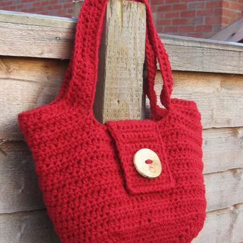 Pipistrelle Handbag Purse PDF Crochet Pattern Medium Bag Chunky Shoulder Bag
