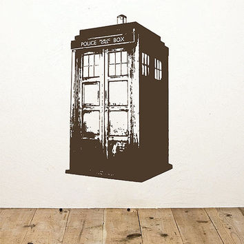 kсik2256 Wall Decal Sticker Time Machine Spaceship tardis doctor who living children's bedroom