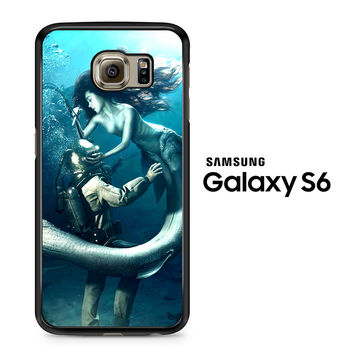 Diver and The Mermaid Samsung Galaxy S6 Case