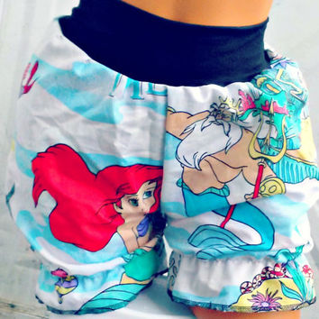 The Little Mermaid bloomers shorts your size from repurposed fabric Ariel