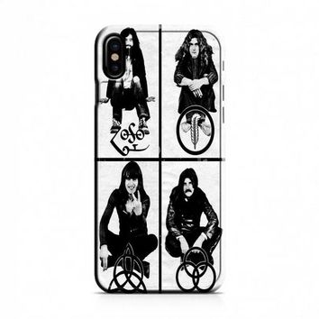Led Zeppelin (members-with symbols) iPhone X Case