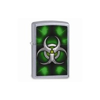 Zippo Biohazard Green Street Chrome Lighter