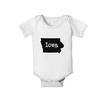 Iowa - United States Shape Baby Romper Bodysuit by TooLoud