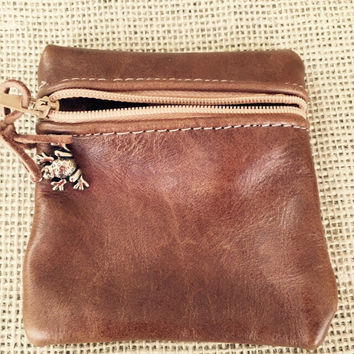 Brown Leather Coin Purses