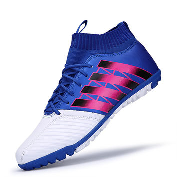 High Ankle Football Boots Superfly Original Indoor Soccer Shoes Kids Men Sneakers chaussure de foot voetbalschoenen met sok